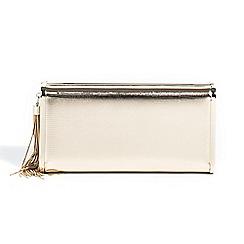 Parfois - Gold summer mare party clutch bag