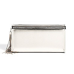Parfois - Silver summer mare party clutch bag