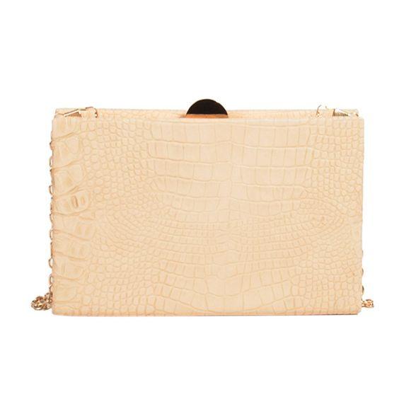 party Cream clutch cayman Parfois bag P1qgwEw4