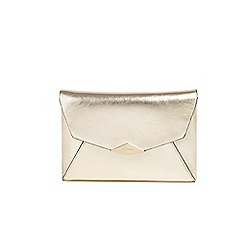 Parfois - Gold trapeze party clutch bag