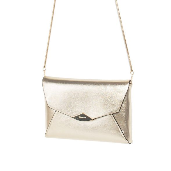 Gold bag trapeze clutch party Parfois zdXqwxz