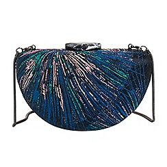 Parfois - Blue alice party clutch bag