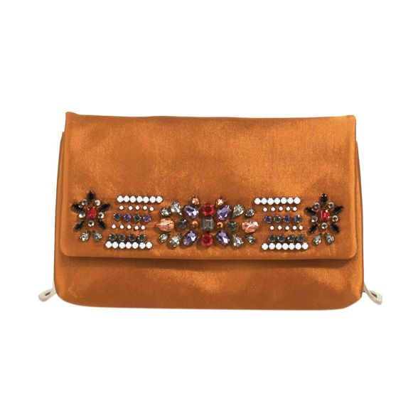 Parfois party clutch bag maripuri Mustard BwqHErnB