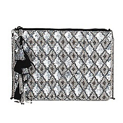 Parfois - Silver inox party clutch