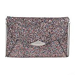 Parfois - Pink trapeze party clutch bag