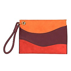 Parfois - Orange night patchwork handbag
