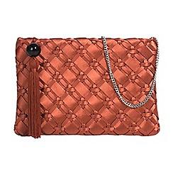 Parfois - Red brick gofre party clutch bag