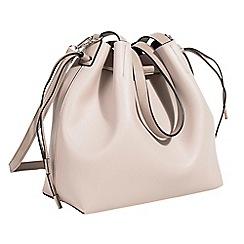 Parfois - Light cream tangled shopper bag
