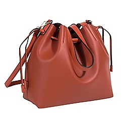 Parfois - Dark brown tangled shopper bag