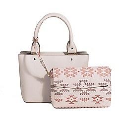 Parfois - Light cream tangled tote bag