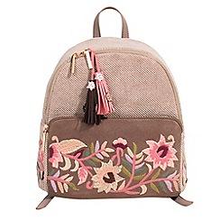 Parfois - Beige merci backpack