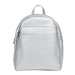 Parfois - Silver kangaroo backpack