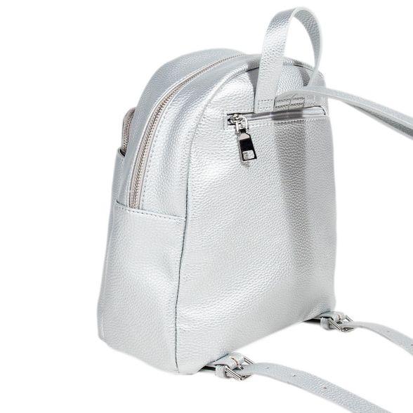 Parfois Parfois Silver kangaroo backpack Silver 55qg0