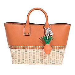 Parfois - Camel brown marbella shopper bag