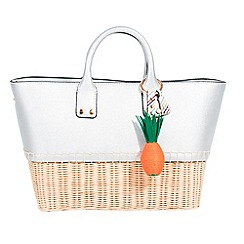 Parfois - Silver marbella shopper bag