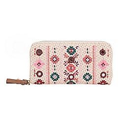 Parfois - Beige folky rose wallet