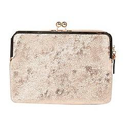 Parfois - Light gold felipin clutch bag