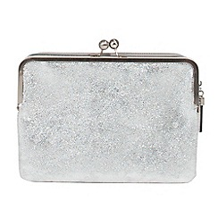 Parfois - Silver felipin clutch bag