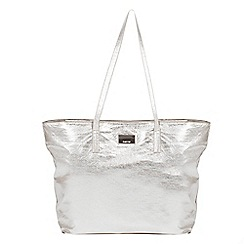 Parfois - Silver felipin shopper bag