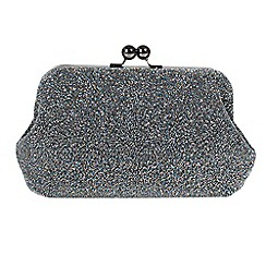 Parfois - Silver frankie party clutch