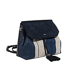Parfois - Navy paille backpack