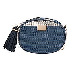 Parfois - Navy paille cross bag