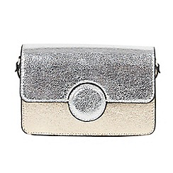 Parfois - Silver goldwed cross bag