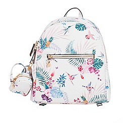 Parfois - Light cream paradise backpack