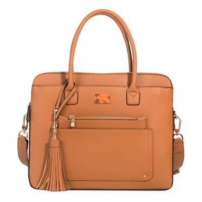 Parfois   Camel Brown Almodovar Briefcase by Parfois