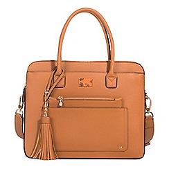 Parfois - Camel brown almodovar briefcase