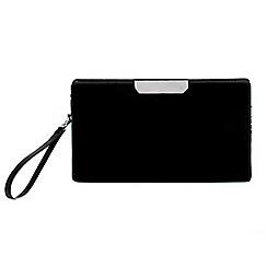 Parfois - Black gold bar party clutch bag