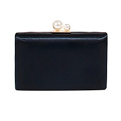 Parfois - Navy oyster party clutch bag