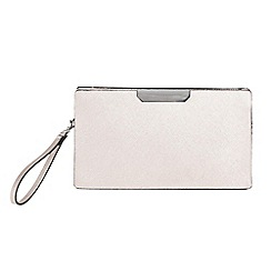 Parfois - Silver gold bar party clutch