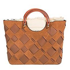 Parfois - Camel brown handbag crafted blend collection