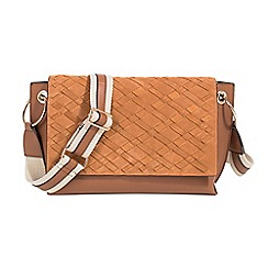 Parfois - Camel brown crafted blend collection cross bag