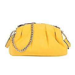 Parfois - Yellow crafted blend collection handbag
