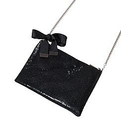 Parfois - Black fever party clutch bag