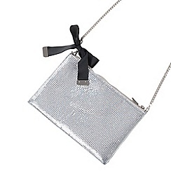 Parfois - Silver fever party clutch bag