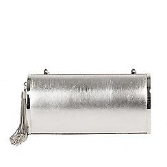 Parfois - Silver party clutch bag