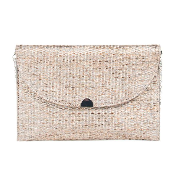 party moon straw Parfois clutch bag Gold 8twnSq5