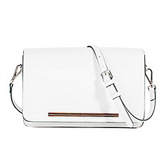 Parfois - White concha cross bag