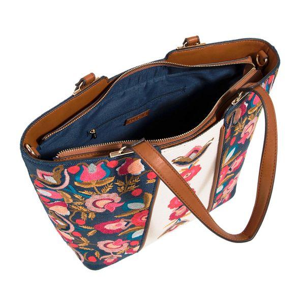 Parfois flora flora shopper Parfois bag Parfois shopper Navy Navy Navy bag flora 6qAw4x4