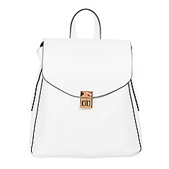 Parfois - White amapola backpack