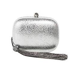 Parfois - Silver savon party clutch