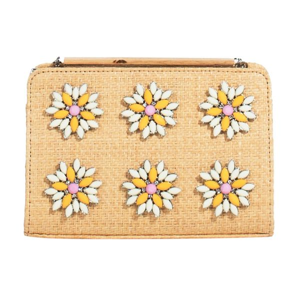 Parfois clutch fleur party fleur Parfois Beige Beige party Beige clutch fleur clutch Parfois party qATrwq