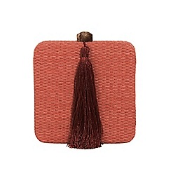 Parfois - Red brick brique party clutch