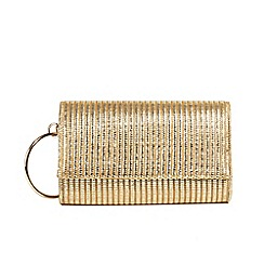 Parfois - Gold hoop party clutch