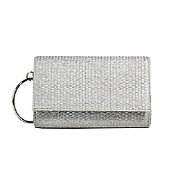 Parfois - Silver hoop party clutch