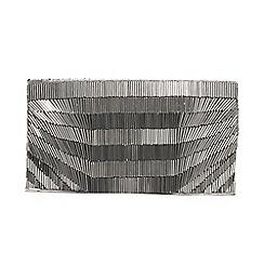 Parfois - Silver electric party clutch bag