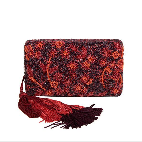 party morocco Dark bag clutch red Parfois Y4RwqzOx